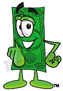 Cartoon Dollar Bill